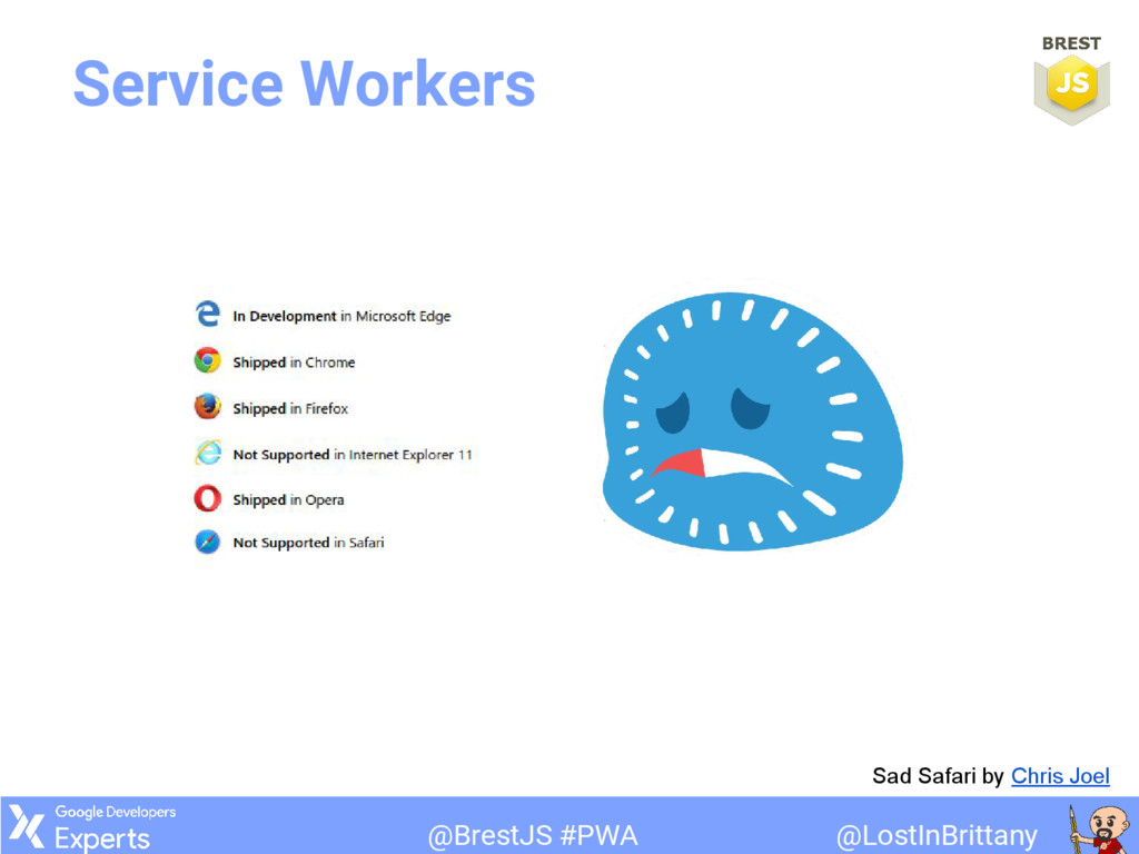 @LostInBrittany @BrestJS #PWA Service Workers S...