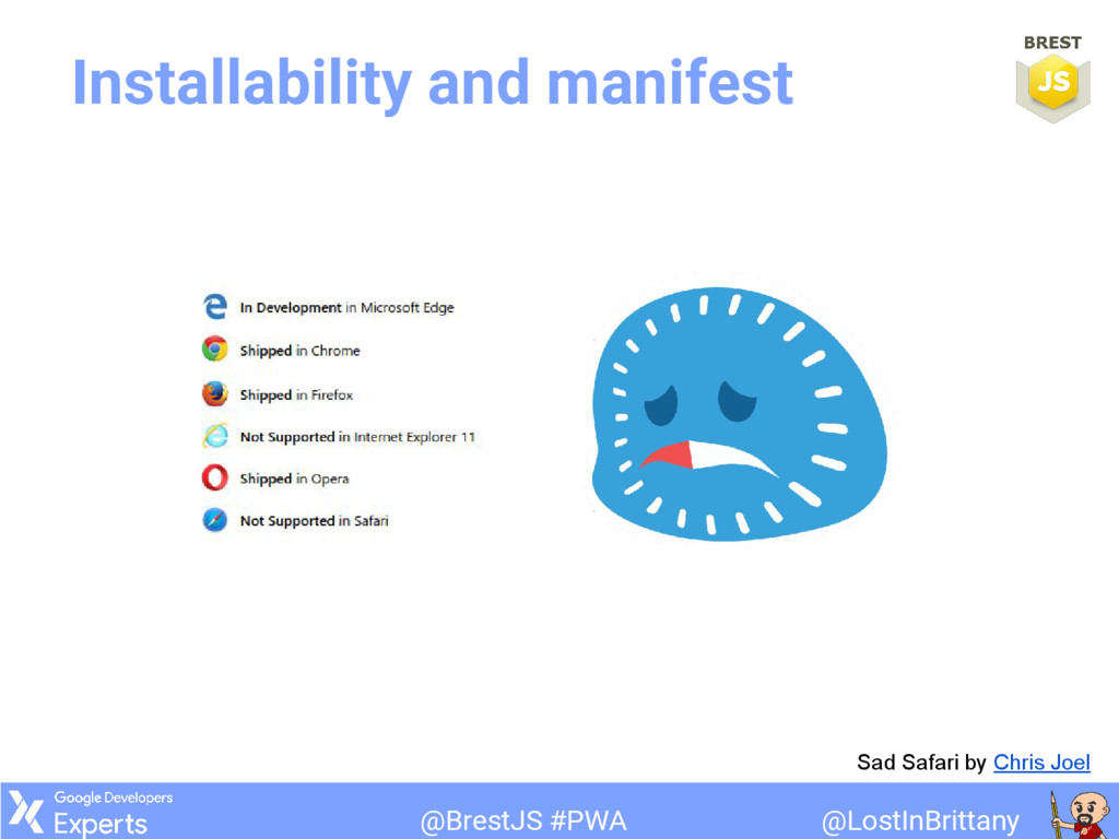 @LostInBrittany @BrestJS #PWA Installability an...
