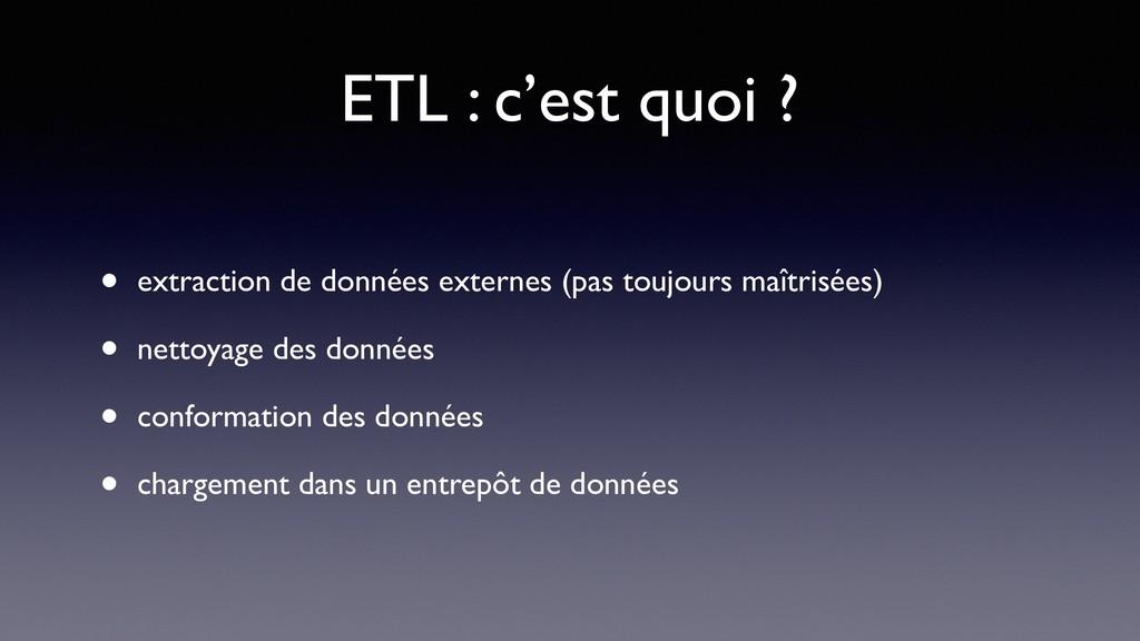 ETL : c'est quoi ? • extraction de données exte...