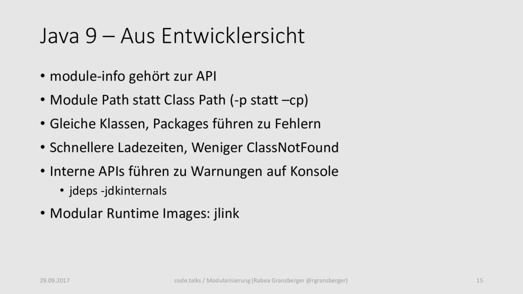 Java 9 – Aus Entwicklersicht • module-info gehö...