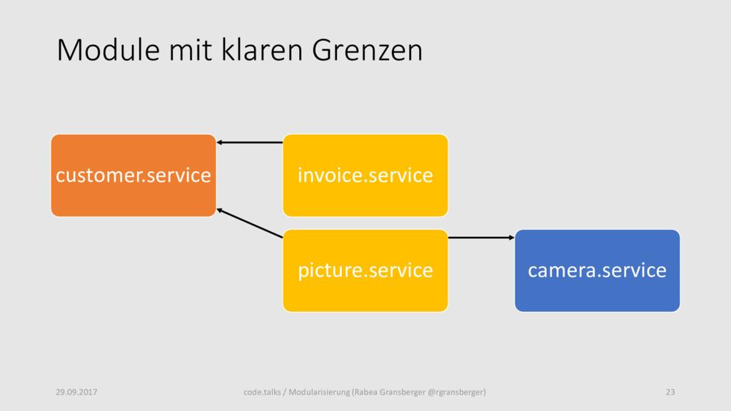 Module mit klaren Grenzen customer.service invo...