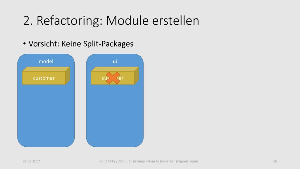 2. Refactoring: Module erstellen 29.09.2017 50 ...