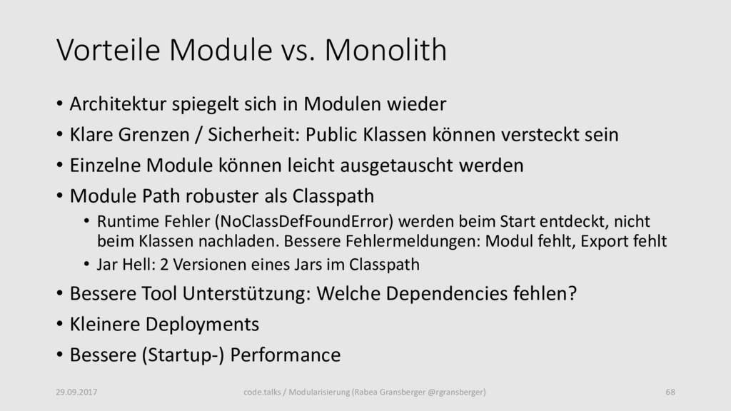 Vorteile Module vs. Monolith • Architektur spie...
