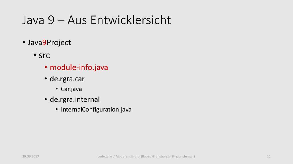 Java 9 – Aus Entwicklersicht • Java9Project • s...