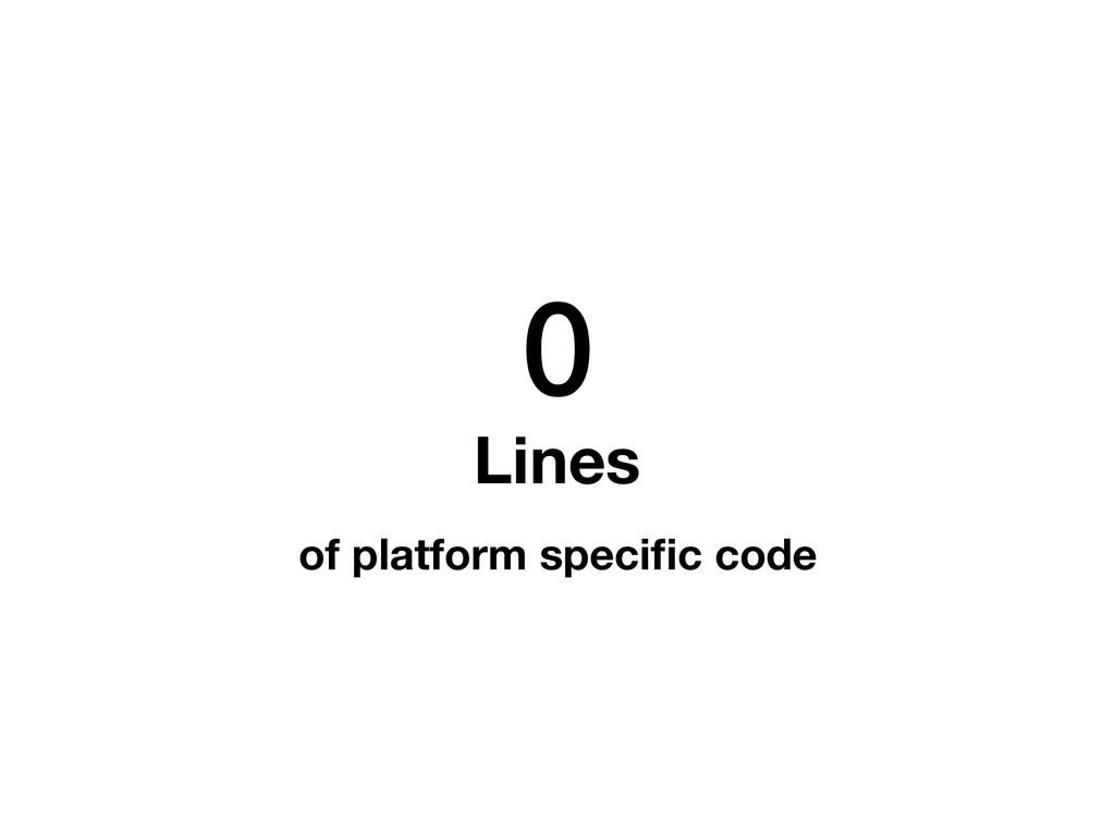 0 Lines of platform specific code