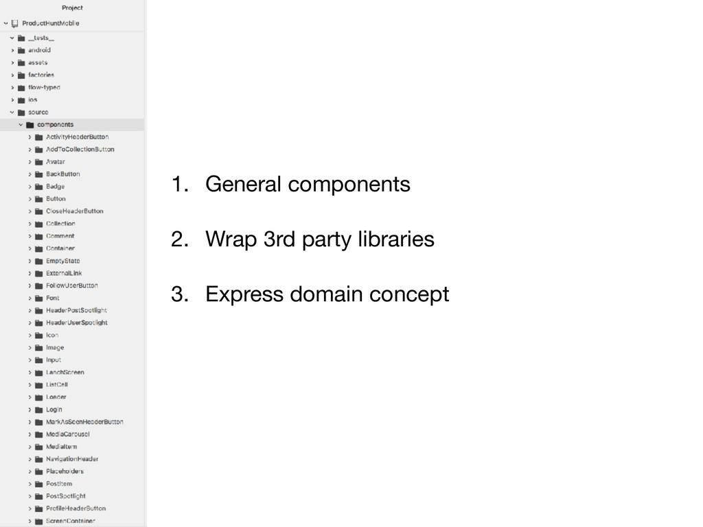 1. General components  2. Wrap 3rd party librar...
