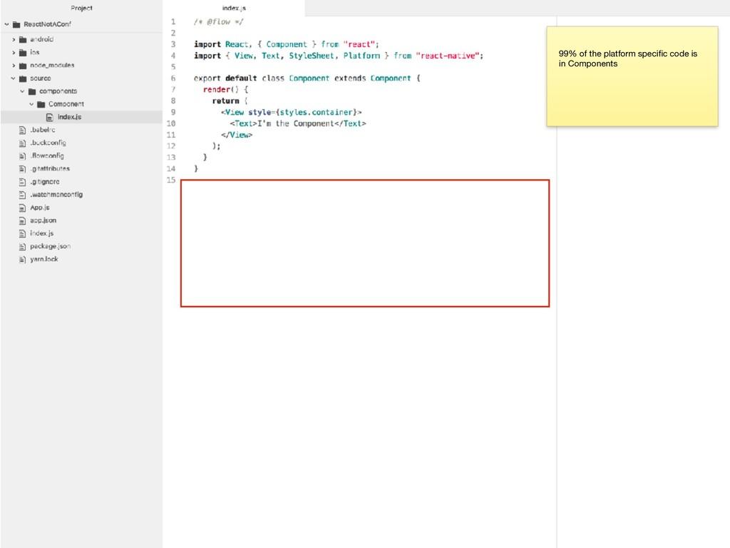 99% of the platform specific code is in Componen...