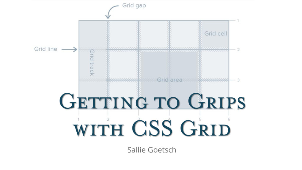 Getting to Grips with CSS Grid Sallie Goetsch