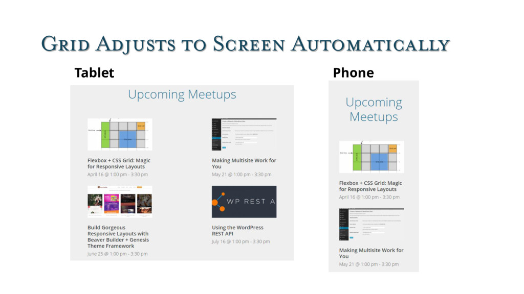 Grid Adjusts to Screen Automatically Tablet Pho...