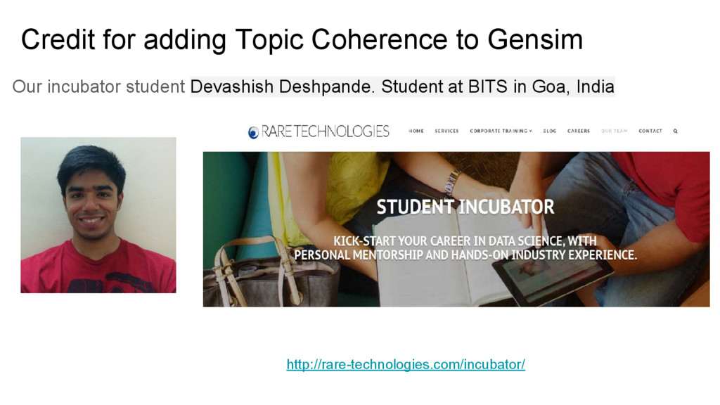 Credit for adding Topic Coherence to Gensim Our...