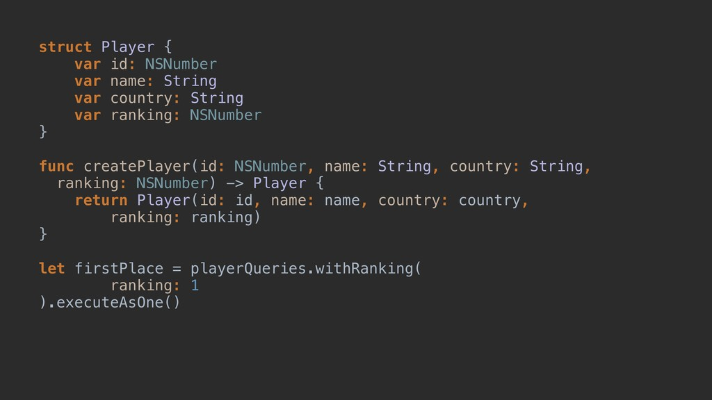 struct Player {A var id: NSNumber var name: Str...