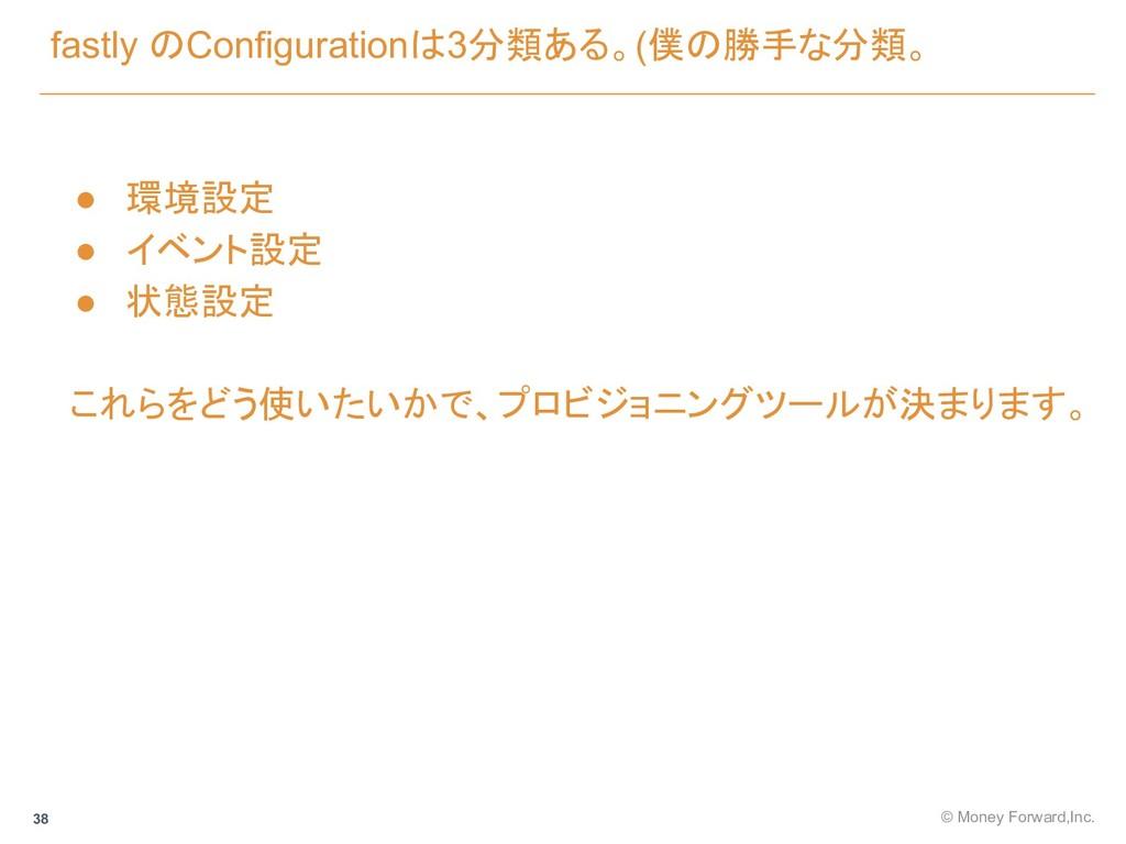 fastly のConfigurationは3分類ある。(僕の勝手な分類。 © Money F...