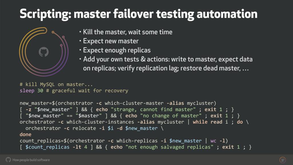 How people build software ! 37 # kill MySQL on ...