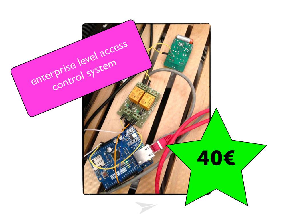 40€ enterprise level access control system
