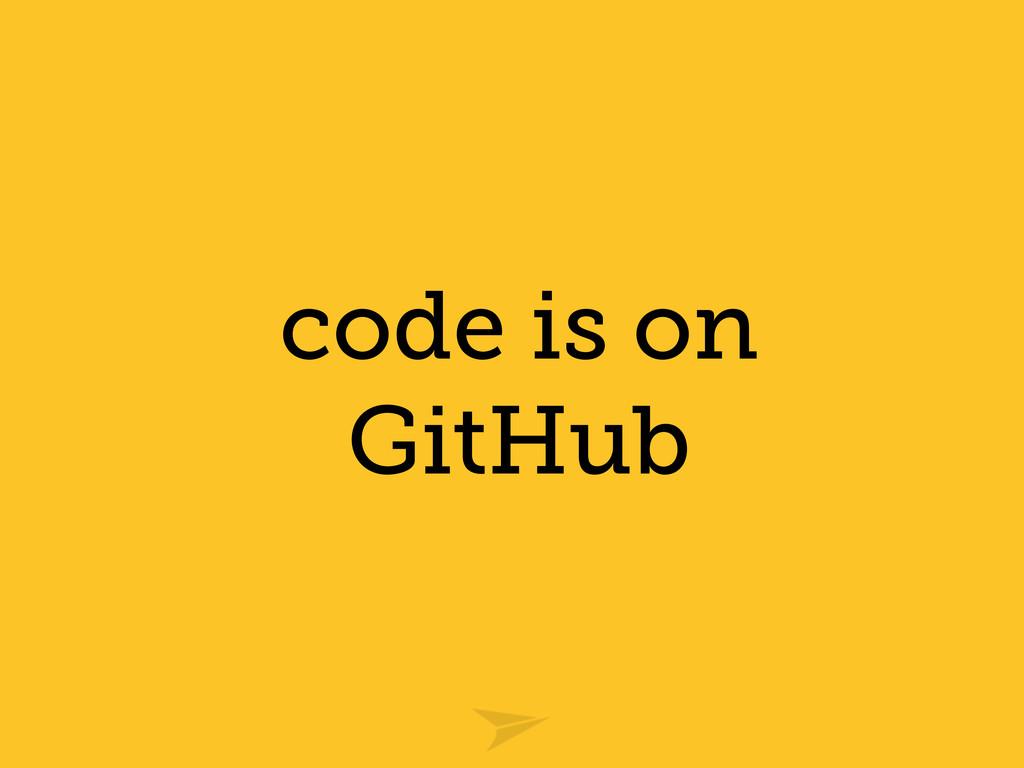 code is on GitHub