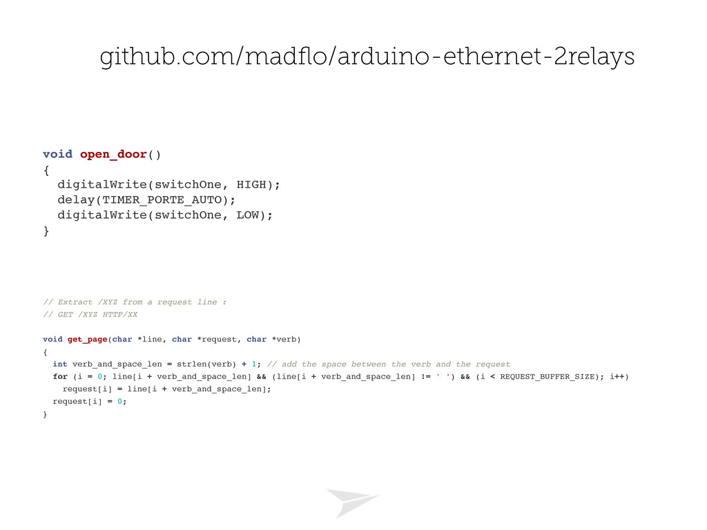 github.com/madflo/arduino-ethernet-2relays void ...