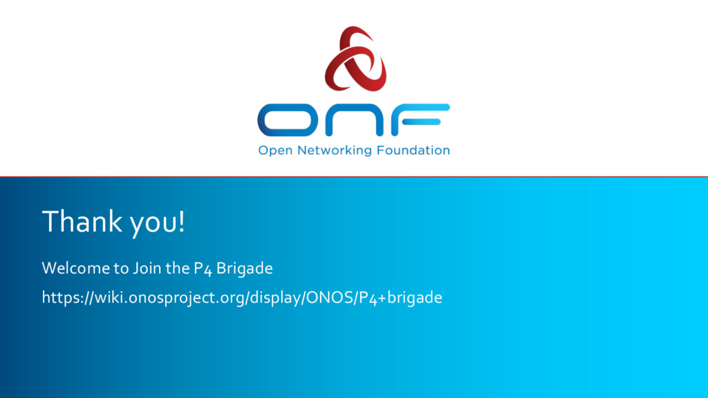 Thank you! Welcome to Join the P4 Brigade https...