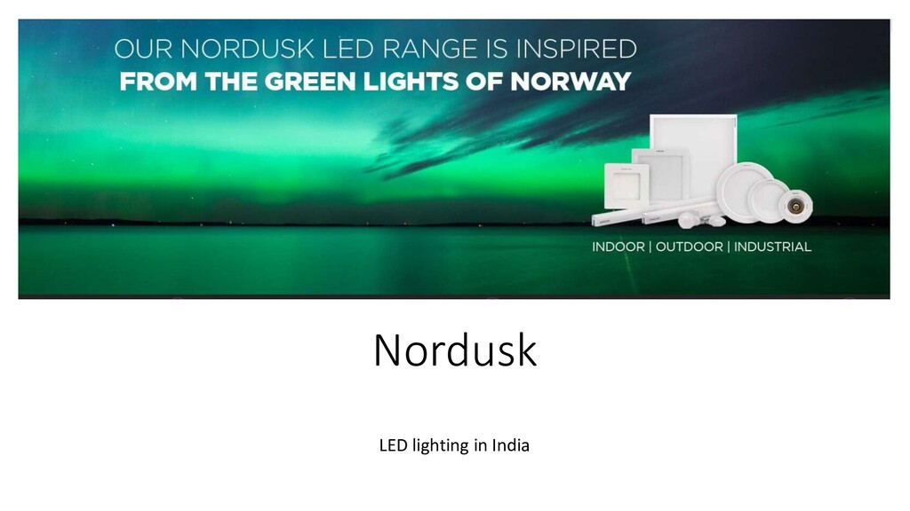 Nordusk LED lighting in India