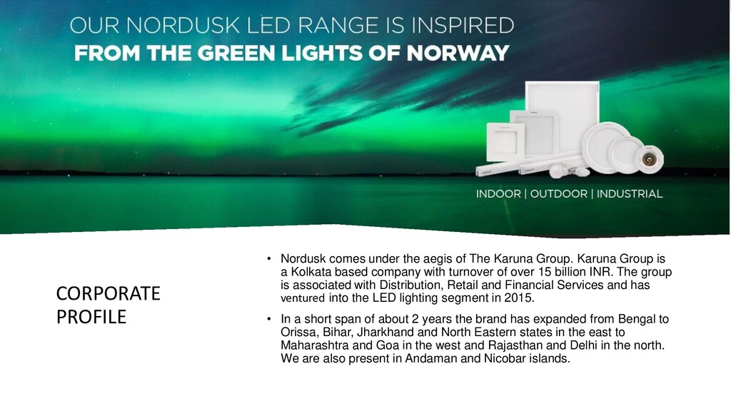 CORPORATE PROFILE • Nordusk comes under the aeg...