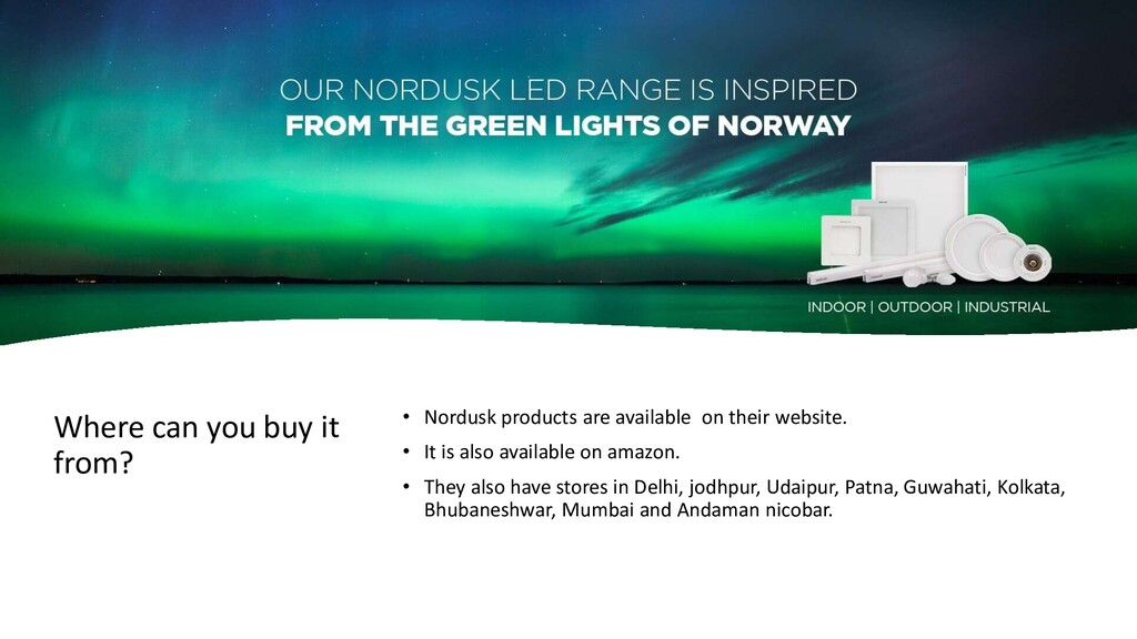 Where can you buy it from? • Nordusk products a...