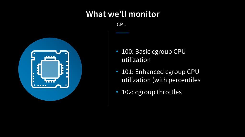 • 100: Basic cgroup CPU utilization • 101: Enha...