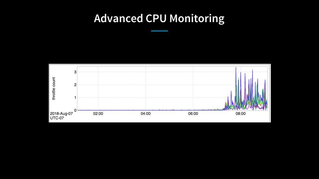Advanced CPU Monitoring