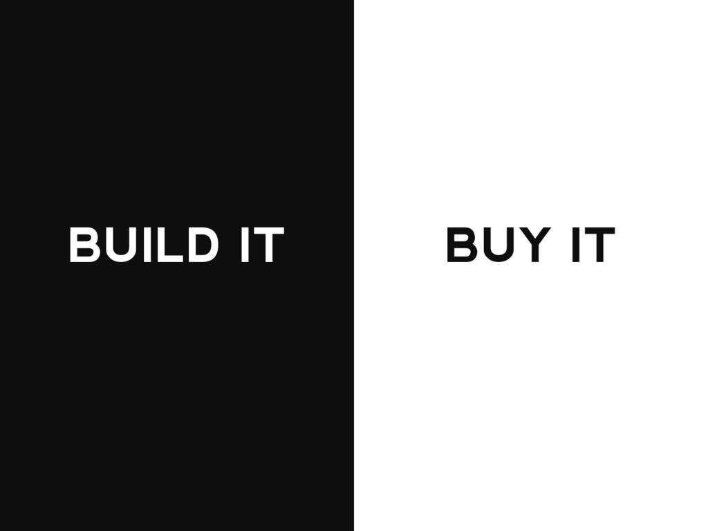 BUILD IT BUY IT