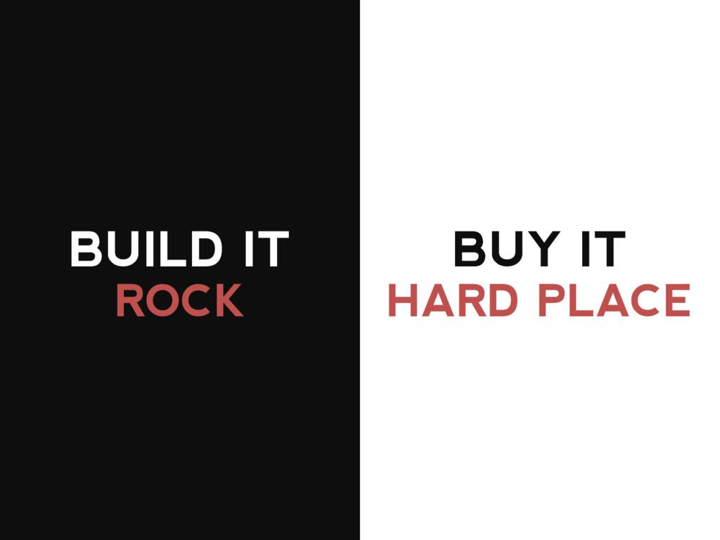 BUILD IT BUY IT ROCK HARD PLACE