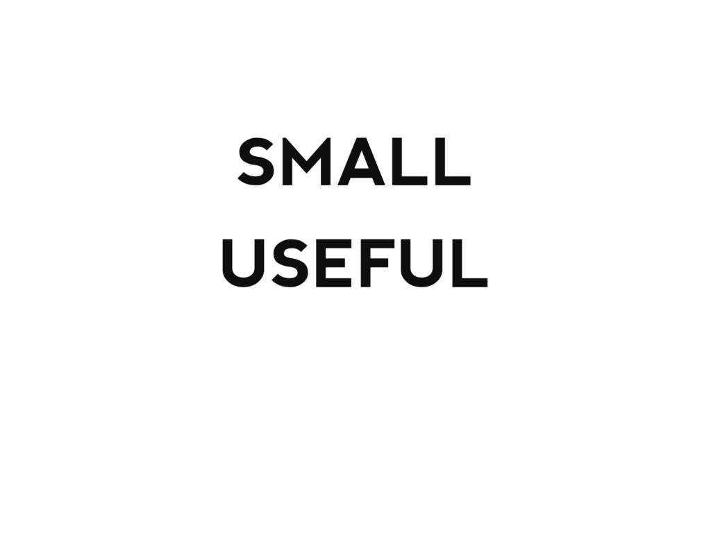 SMALL USEFUL ALREADY EXISTS
