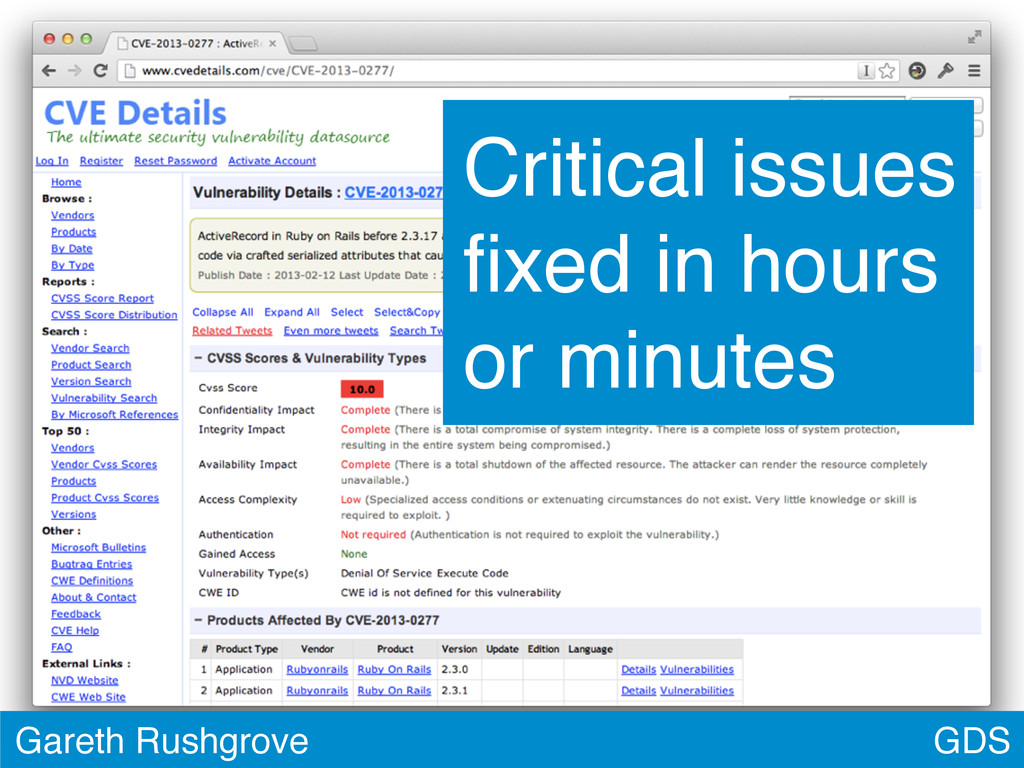 GDS Gareth Rushgrove Critical issues fixed in ho...