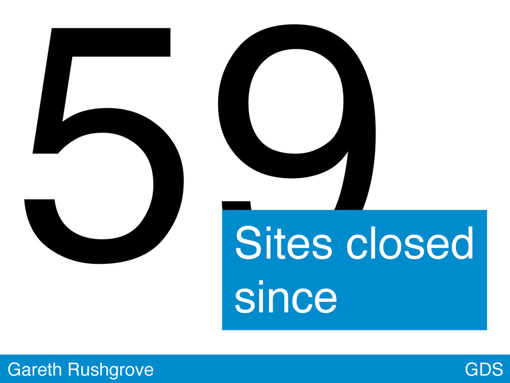 GDS Gareth Rushgrove 59 Sites closed since