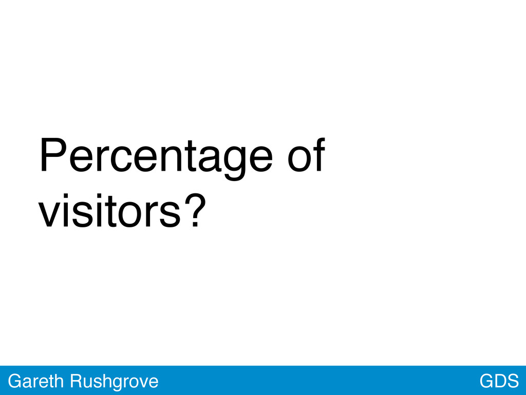 GDS Gareth Rushgrove Percentage of visitors?