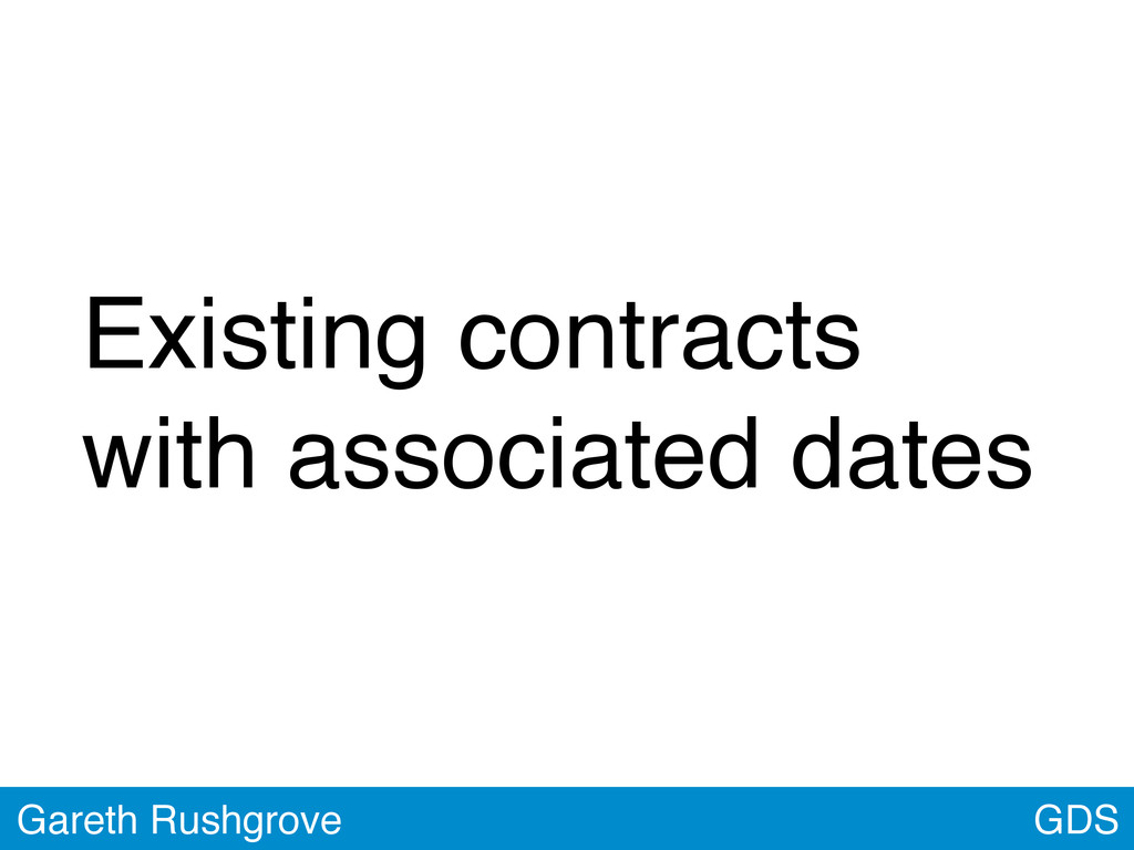 GDS Gareth Rushgrove Existing contracts with as...