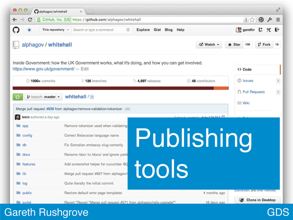 GDS Gareth Rushgrove Publishing tools