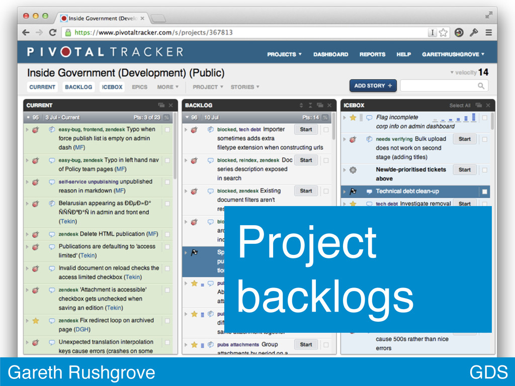 GDS Gareth Rushgrove Project backlogs