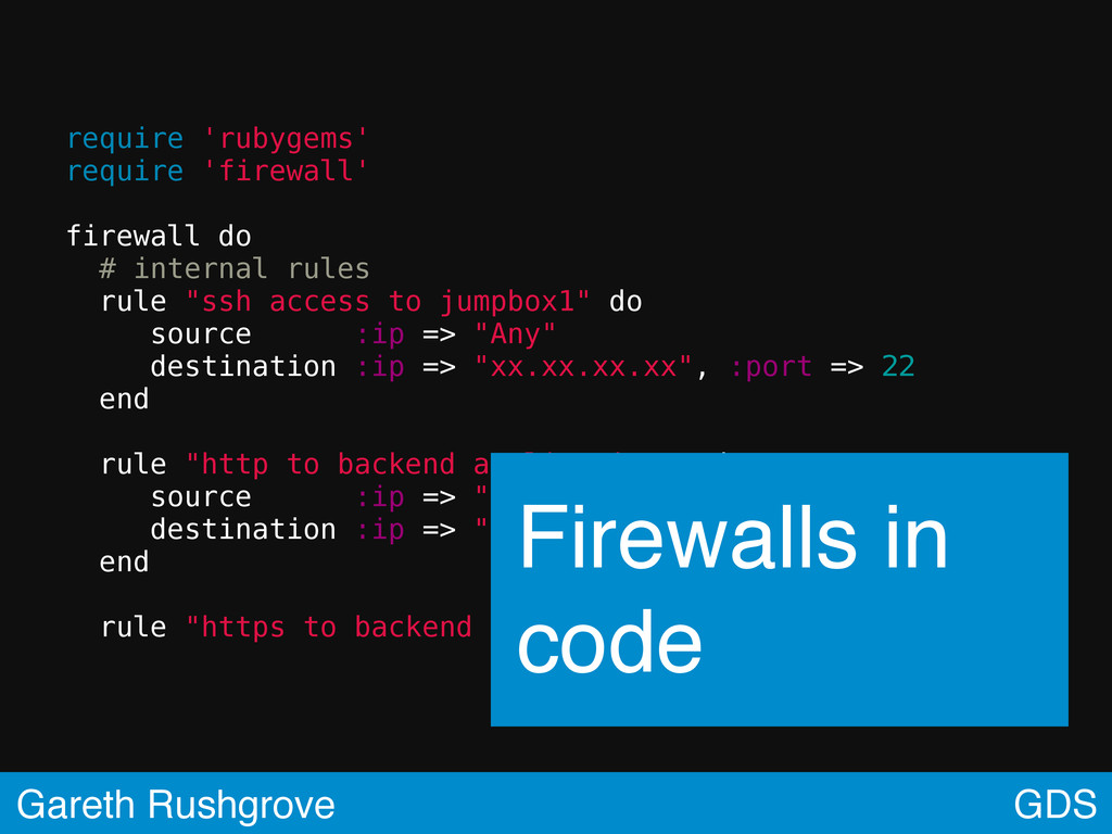 require 'rubygems' require 'firewall' firewall ...