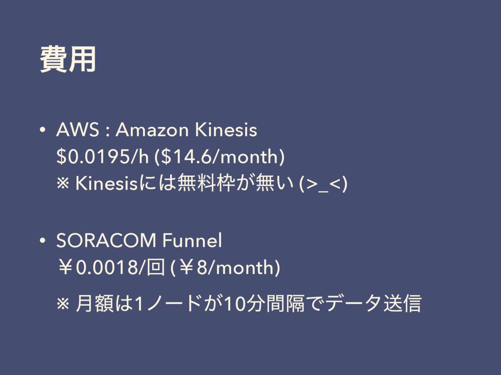 අ༻ • AWS : Amazon Kinesis $0.0195/h ($14.6/mon...