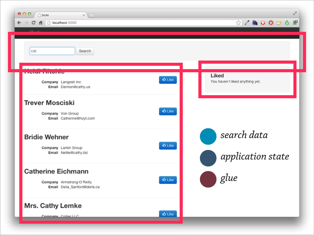 search data application state glue
