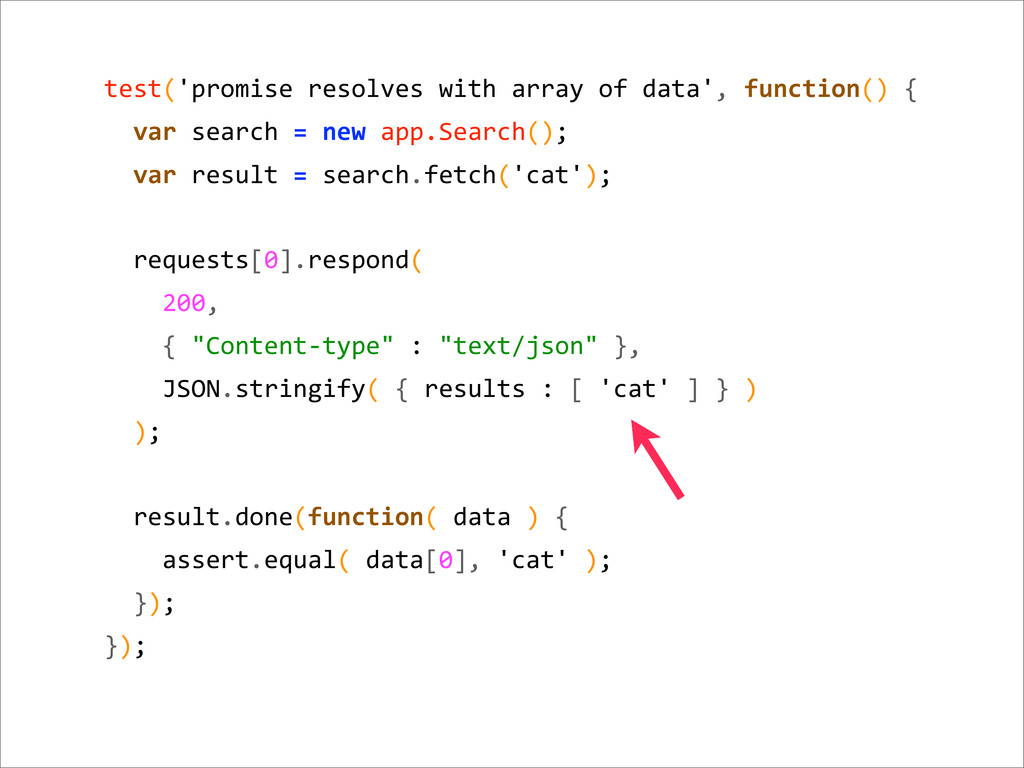 test('promise resolves with array o...