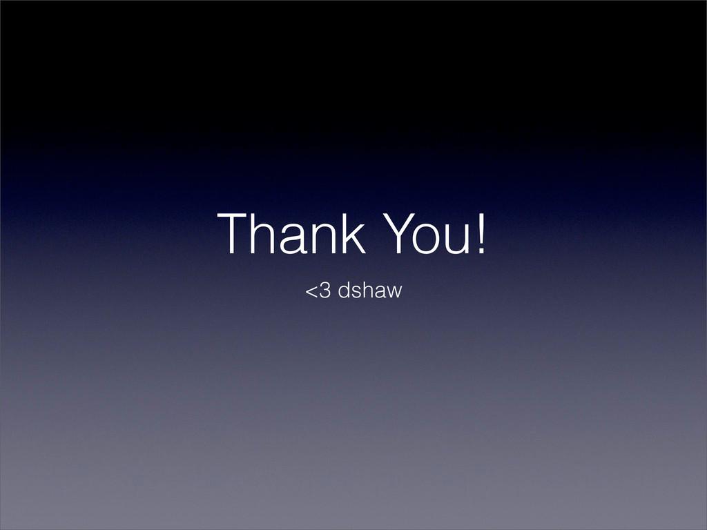 Thank You! <3 dshaw