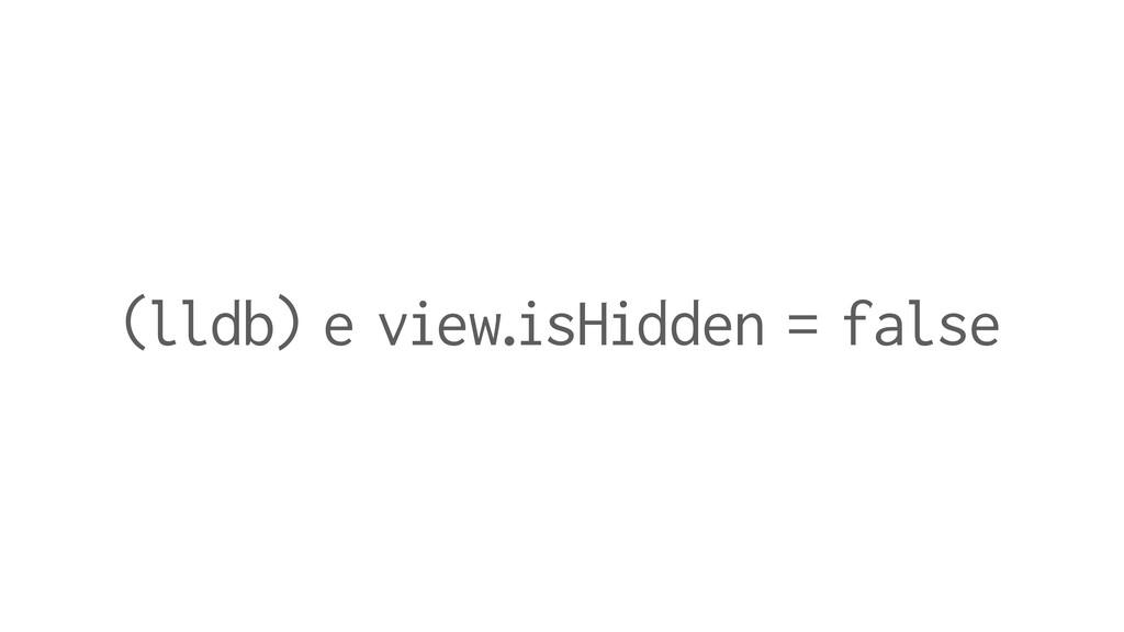 (lldb) e view.isHidden = false