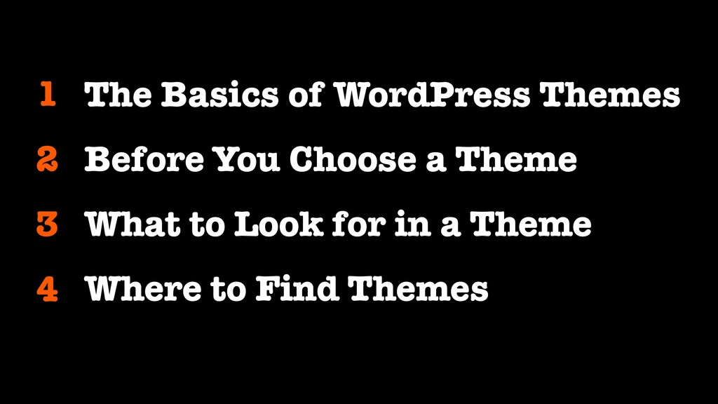 1 The Basics of WordPress Themes Before You Cho...