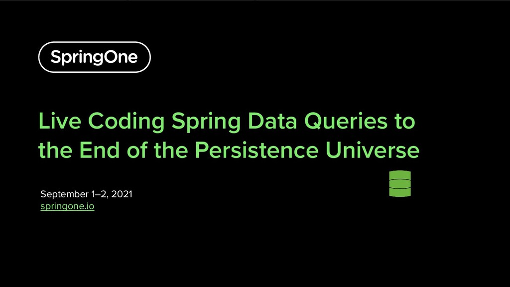 Live Coding Spring Data Queries to the End of t...