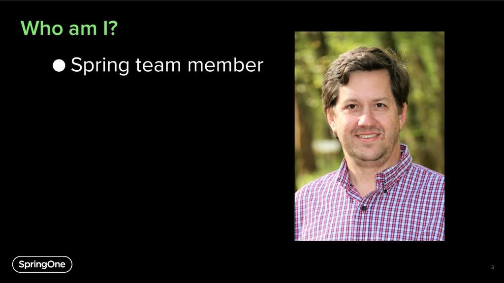 Who am I? ● Spring team member 3