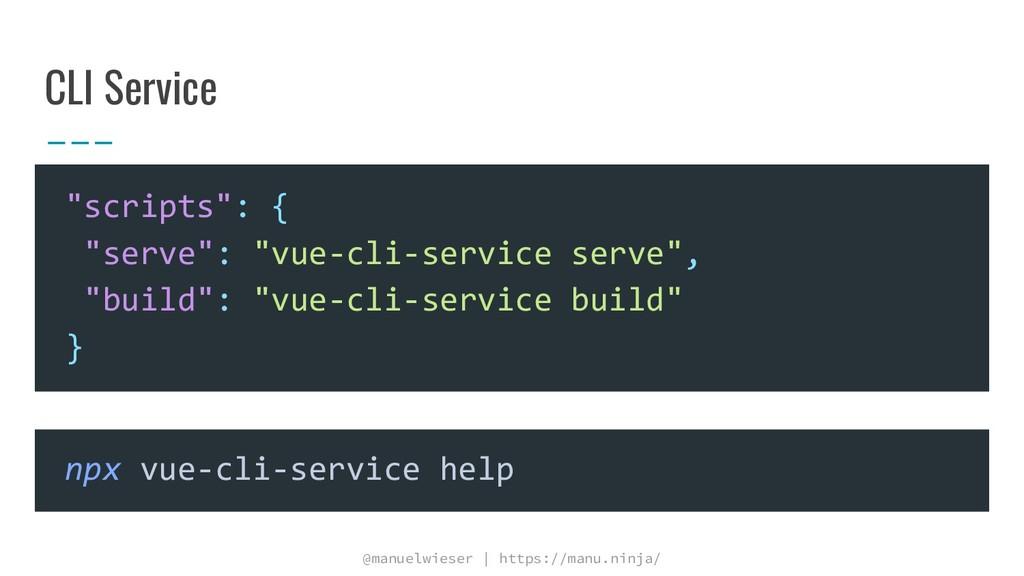 @manuelwieser | https://manu.ninja/ CLI Service...
