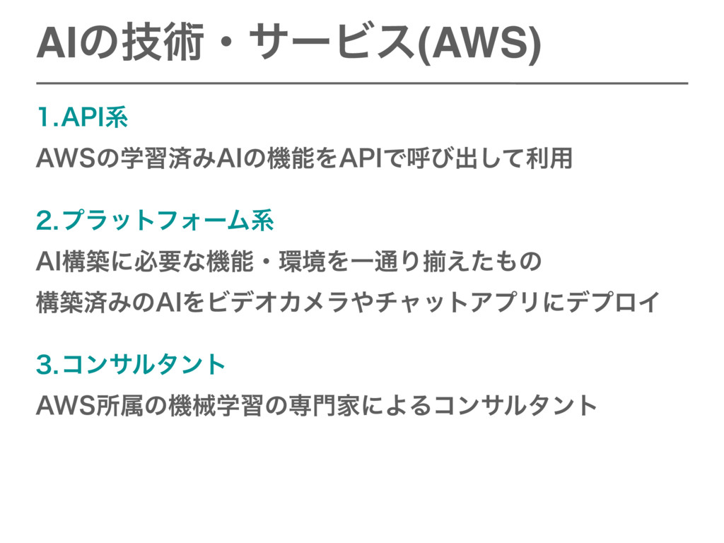 "AIͷٕज़ɾαʔϏε(AWS) ""1*ܥ ""84ͷֶशࡁΈ""*ͷػΛ""1*Ͱݺͼग़ͯ͠..."