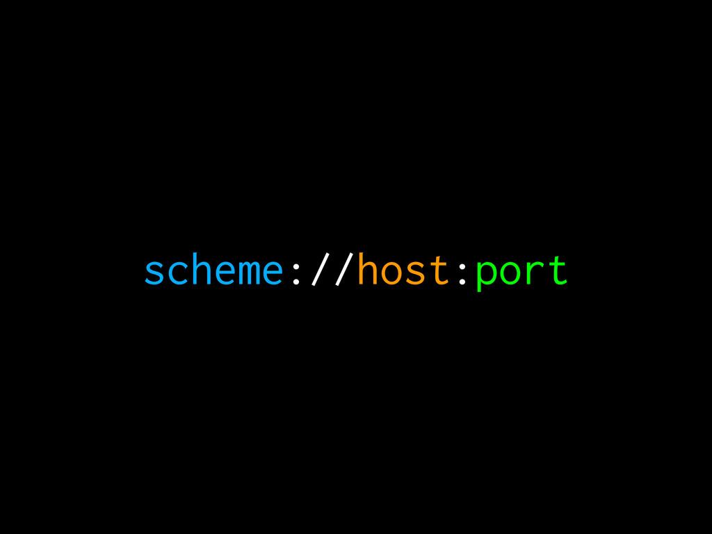 scheme://host:port
