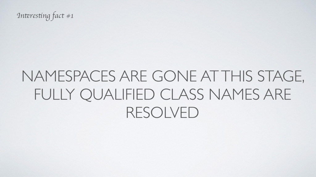 NAMESPACES ARE GONE AT THIS STAGE, FULLY QUALIF...
