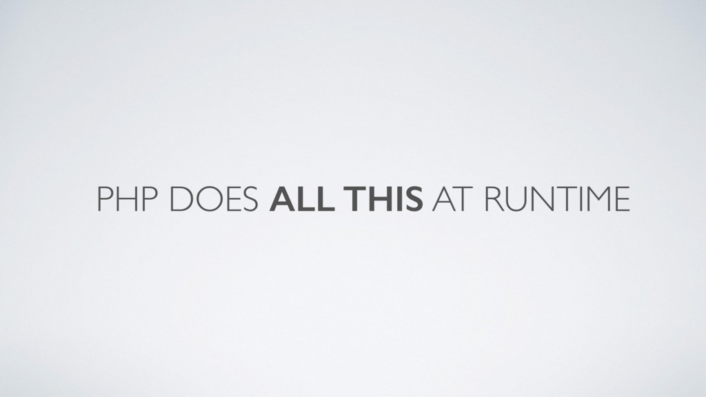 PHP DOES ALL THIS AT RUNTIME