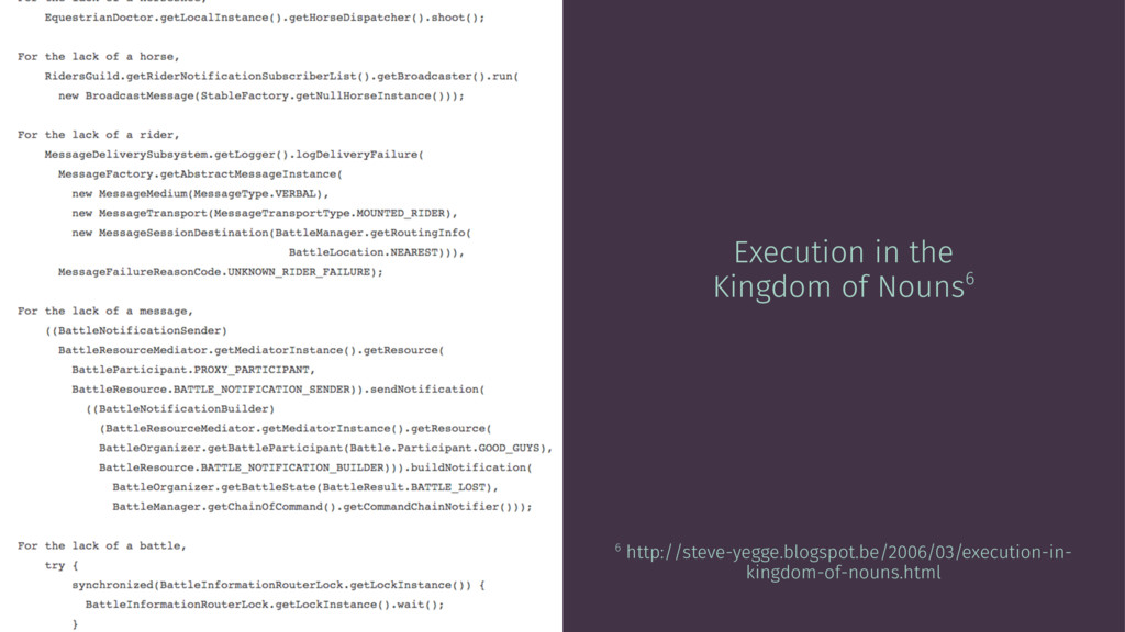 Execution in the Kingdom of Nouns6 6 http://ste...